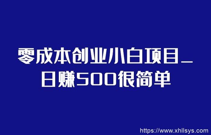 零成本创业小白项目_日赚500很简单(视频课程)