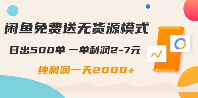 闲鱼无货源模式如何日出500单?每天纯利润2000+